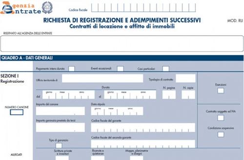 registrazione contratti locazione telematica
